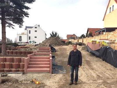 Freiflächen Außenanlagen Baustelle im März