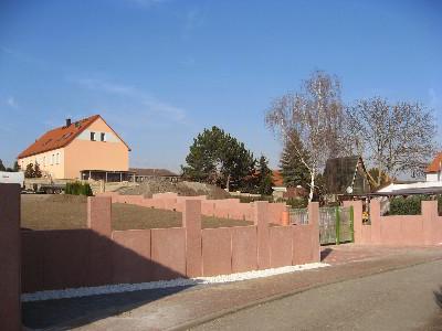 Baustelle Freifläche im März