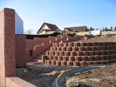Baustelle im März