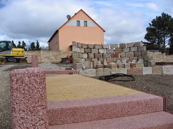 Baustelle im März Freiflächen Außenanlagen